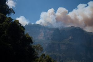 When the iconic Blue Mountains caught alight...