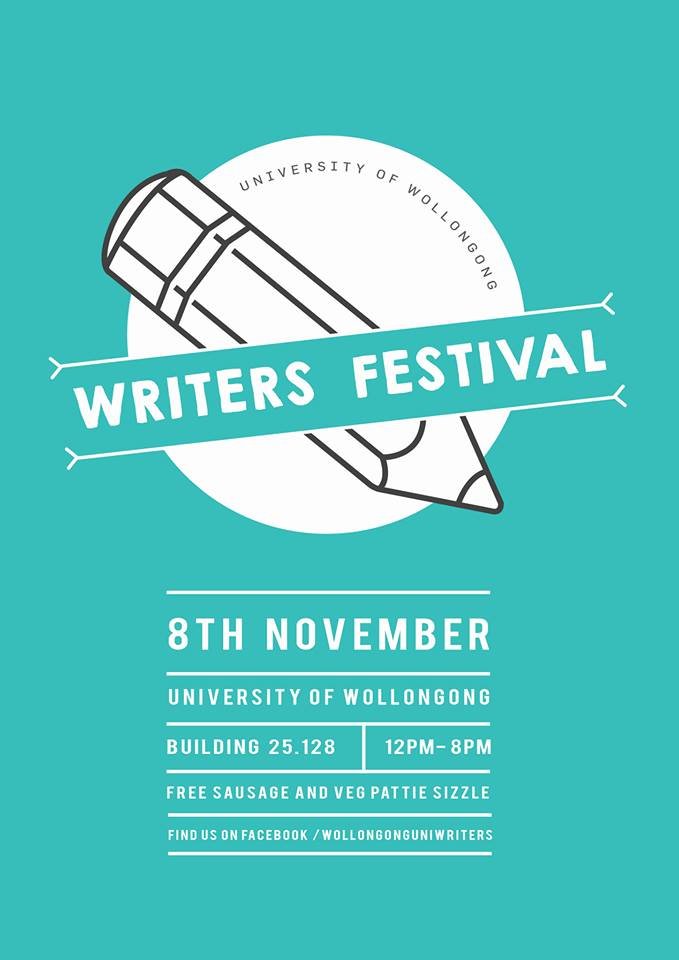 We'll be covering the Writers Festival events at Wollongong University this Friday!