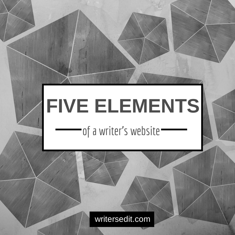 Five elements of a writer's website