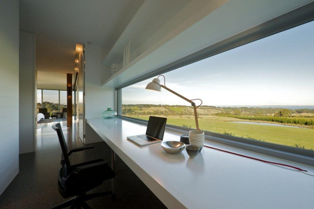 long desk view
