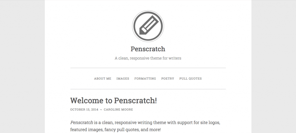 Penscratch-wordpress-theme-writers