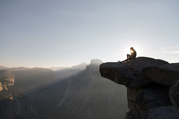 Person-On-A-cliff
